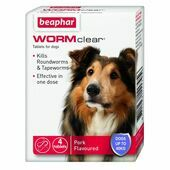 WORMclear Dog Up To 40kg 4 Tablets