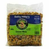 Betty Millers Cheese Minis (Wheat Gluten Free) 500g