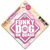 Funky Dog On Board Air Freshener Bubblegum