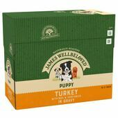 JAMES WELLBELOVED Turkey with Rice Puppy Pouch 10x150g
