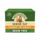 James Wellbeloved Grain Free Cat Pouch Senior Turkey 12 x 85g