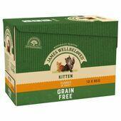 James Wellbeloved Grain Free Turkey Kitten Wet Food 12 x 85g