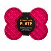 SloDog Slow Feeder Plate Pink