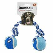 Sharples 'N' Grant Ruff 'N' Tumble Tennis Ball & Rope Dumbell 180g