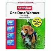 Beaphar One Dose Wormer Medium Dog 2 Tablets