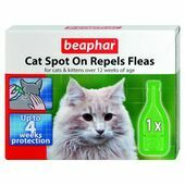 Beaphar Cat Spot On Repels Fleas 4 Week Treatment