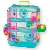 Lazy Bones Hamster Cage 3 Storey