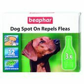 Beaphar Dog Spot On Repels Fleas 12 Week Protection