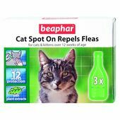 Beaphar Cat Spot On Repels Fleas 12 Week Protection