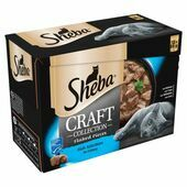 SHEBA Craft Cat Pouches Fish Selection in Gravy 12x85g pack