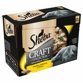 SHEBA Craft Cat Pouches Poultry Selection in Gravy 12x85g pack