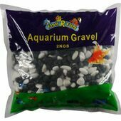 Fish \'R\' Fun Coated Aquarium Gravel Black & White 2kg