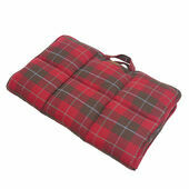 Joules Red Country Tweed Travel Dog Blanket