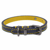 Joules Navy Leather Dog Collar