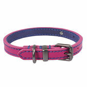 Joules Pink Leather Dog Collar