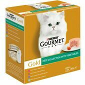 8 x 85g Gourmet Gold Pate Collection with Vegetables Cat Food