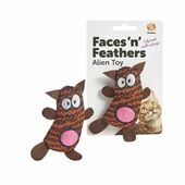 Faces 'n' Feathers Alien Cat Toy