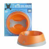 LickiBowl Oral Health Dog Bowl Orange Large