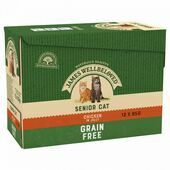 JAMES WELLBELOVED Senior Cat Grain Free Pouches with Chicken in Jelly 12x85g