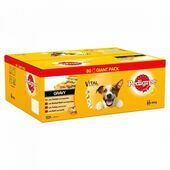 PEDIGREE Dog Pouches Mixed Selection in Gravy 80x100g Mega Pack