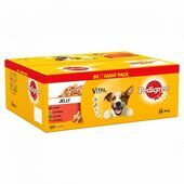 PEDIGREE Dog Pouches Mixed Selection in Jelly 80x100g Mega Pack
