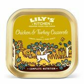 10 x 150g Lily's Kitchen Wet Dog Tray Chicken & Turkey Casserole