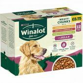 WINALOT Dog Food Pouches  Mixed in Jelly (12x100g)