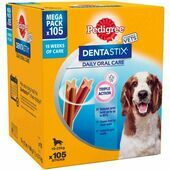 Pedigree Dentastix Daily Oral Care Dental Chews Medium Breed (105 Sticks)