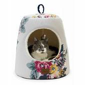 Joules Cambridge Floral Hideaway Cat Bed