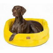 Joules Velvet Chesterfield Dog/Cat Bed Yellow