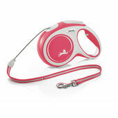 Flexi New Comfort Retractable Cord Dog Lead Red