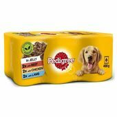 Pedigree Wet Dog Food Tins Mixed Selection in Jelly 6x400g