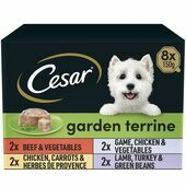 CESAR Garden Terrine Mixed Selection in Loaf Dog Food 8 x 150g