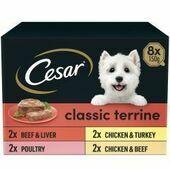 Cesar Classics Wet Dog Food Terrine Mixed Selection 8 x 150g