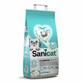 Sanicat Clumping White Cotton Fresh Cat Litter 10 Litres