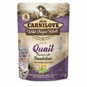 Carnilove Cat Pouch Quail with Dandelion