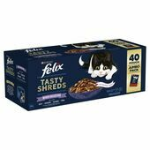 40 x Felix Tasty Shreds Mixed Selection in Gravy Wet Cat Food 80g