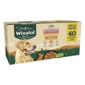 40 x Winalot Sunday Dinner Dog Food Pouches Mixed in Gravy 100g