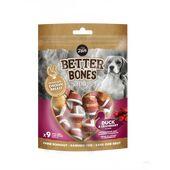 Zeus Better Bones Duck & Cranberry Wrapped Chicken Dog Treats 7.5cm