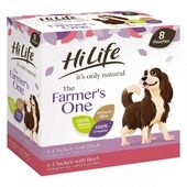 HiLife it's only natural The Farmer's One Adult Complete Wet Dog Food Pouches 8 x 150g