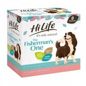 HiLife it's only natural The Fisherman's One Adult Complete Wet Dog Food Pouches 8 x150g
