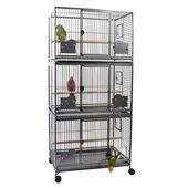 Sky Pet Products Parrot Grande Triple Cage