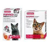 Beaphar Cat Flea, Tick + Worming Bundle