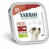12 x Yarrah Organic Dog Grain Free Pate Beef With Spirulina 150g