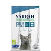 25 x Yarrah Organic Cat Chew Sticks Fish With Spirulina & Seaweed 15g