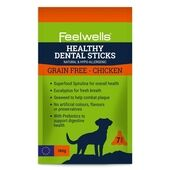 Feelwells Healthy Dental Grain Free Chicken Sticks for Dogs 180g