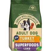 James Wellbeloved Superfoods Adult Dry Dog Food Turkey with Kale & Quinoa