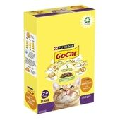Go-Cat Senior with Chicken, Turkey and Vegetables Dry Cat Food 750g