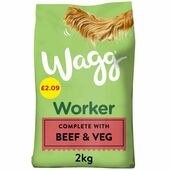 Wagg Worker Beef Complete Dry Dog Food 2kg