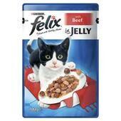 20 x Felix Pouch Beef In Jelly 100g